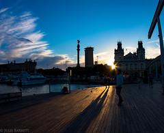 Barcelona 2016 (jcl8888) Tags: nikon d7200 barcelona spain travel boardwalk sunset tokina 1017mm shadows