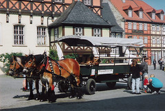 Germany.  June 12th.-20th. 1999 (Cynthia of Harborough) Tags: 1999 architecture animals carts horses people squares transport