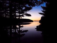 Peace and Quiet / Ruhe und Stille --- Muskoka, Ontario, Canada (Walkuere123) Tags: sunset sonnenuntergang atardecer muskokalakes ontarionature outdoor nikoncoolpixp900 trees lake bume see lago arboles treesilhouette sky himmel ciel ontario canada