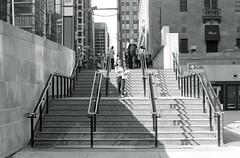 Sunny York St. Stairs_ (Bill Smith1) Tags: asahipentaxmx believeinfilm billsmithsphotography hc110b heyfsc ilfordhp5400 smcpentaxm50f2lens september2016 toronto filmshooterscollective