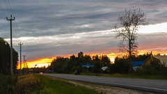 Sunset sky over the road (psvrusso) Tags: dusk car video sunset hd traffic scene road night time highway sky twilight lapse transport motion view light outdoors roadside asphalt