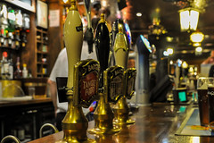 Bar pumps (MartinHots) Tags: pumps bar pub pull drink alcohol stiff old barman beer ales ale glass wood brass drinking night indoor gig badgers lager pints