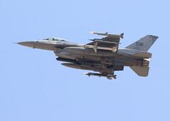 91-0395_F-16CM_SW_KLSV_1616 (Mike Head - Jetwashphotos) Tags: lockheed gd generaldynamics f16cm viper sw 55thfs shawafb usaf redflag redflag164 nv nevada lasvegas desert desertsouthwest dry arid hot pleasant