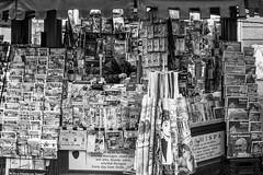 messages... (ignacy50.pl) Tags: press newspapers magazines shop man city street citylife newspaper newsstand urban blackandwhite monochrome fullframe canon ignacy50 streetphotography roma italy