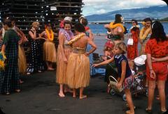 Ford Island, Honolulu, Hawaii  1960s (ElectroSpark) Tags: vintage photos slides hawaii military aircraftcarrier wwii koreanwar tiki hula girls
