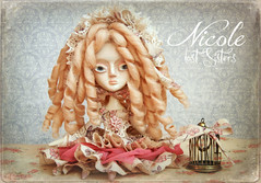 NICOLE, LOST SISTERS Ooak Collectible Art Doll By Odd Princess (Odd Princess Dolls) Tags: art fairytale vintage nicole doll princess handmade unique oneofakind ooak gothic victorian retro odd bjd collectible artdoll handmadedoll rjd  ooakdoll kukla paperclay airdryclay ooakbjd oddprincess lostsisters