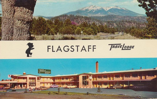 arizona vintage postcard motel flagstaff 1975 travelodge