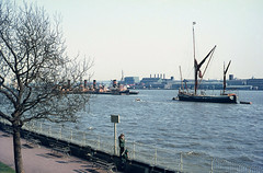 Sail Barge & Tugs at Woolwich. 1968. (David Christie 14) Tags: ship tug woolwich thamessailingbarge