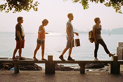 Queue (a l e x . k) Tags: film island pentax xiamen gulang lx fa43mmf19 wandoulabs