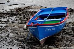 Low tide (YellowSingle ) Tags: ocean sea man harbor boat fishing nikon tide low row atlantic 300mm fisher 40 d3 socoa