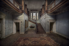 School Admin stairs (andre govia.) Tags: school abandoned window boys stairs carpet cl