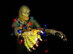 Christmas Creature 8251 (Brechtbug) Tags: pictures from christmas new york city light shadow portrait holiday fish man black tree green film halloween face its monster 1931 movie studio toy lite toys lights scary moody shadows with action zombie amphibian lagoon frankenstein hollywood figure horror terror type boris undead monsters universal alive collectible creatures creature transylvania fright collectable 2012 cadaver gilman karloff