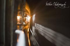 Inside a Rail Tunnel (Mithun Kundu) Tags: light train moving tunnel hills valley vizag araku easternghat