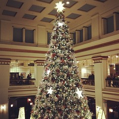 (courtneyureel) Tags: christmas street holiday chicago tree december state room walnut macys statestreet 2012 walnutroom uploaded:by=flickrmobile flickriosapp:filter=nofilter