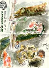 Paris - dinosaure la vie en grand (croquisdenico) Tags: paris museum watercolor sketch drawing aquarelle sketchbook exhibition musée dessin croquis dinosaure mnhn carnetdevoyages