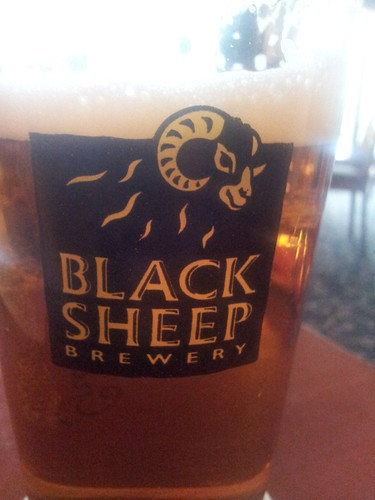 A nice pint of Black Sheep at the Kearton Country Hotel, Thwaite.