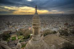 Montmartre Sacr Coeur (hebiflux) Tags: panorama paris montmartre coeur dome vue sacr hauteur