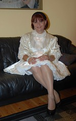 Sissy maid (Marie-Christine.TV) Tags: berlin lady french highheels dress feminine sissy transvestite service collar maid petticoat frenchmaid mariechristine sissymaid anklechain governess