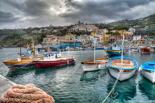 Massa Lubrense, italian fishing village
