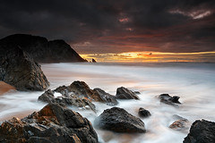 Gift from the Gods (CResende) Tags: sunset seascape motion beach portugal colors landscape rocks photographer sintra gift gods travelers adraga cresende