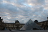 Musée du Louvre (JoshuaColeman) Tags: 2 vacation paris france museum tom clouds sunrise canon lens dawn code europe european pyramid louvre mark du musée audrey ii da l 5d series vinci hanks tatou 2470