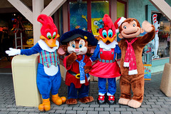 Meeting Woody, Fievel, Winnie and George