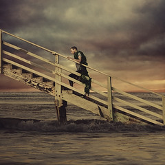 we survived (brookeshaden) Tags: ocean seaweed lines escape staircase fineartphotography ascend boywonder conceptualphotography joelrobison
