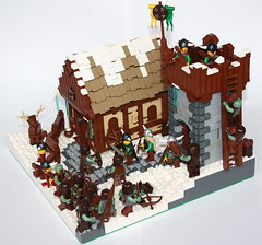 Attack of the Trolls (main) (Simon S.) Tags: lego bricks battle vikings goh trolls orks guilds historica mitgardia