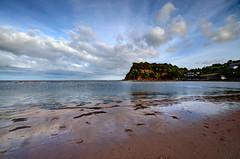 The Ness Headland from Teignmouth Beach (rosiespoonerphotos) Tags: uk england beach water landscape coast nikon rocks devon westcountry coastpath fused teignmouth swcp shaldon photomatix southwestcoastpath d5000 rosiesphotos nikond5000 tamronspaf1024mmf3545diiildasphericalif rosiespooner rosyrosie2009 rosemaryspooner rosiespoonerphotography thenessheadland