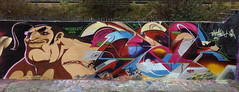 Paintaholics Production Jan 2013 (Pedronicus) Tags: park uk urban streetart london art wall painting graffiti paint artist graf letters style pedro vandal painter writer halloffame freehand piece aerosol oldskool hof spraycan tottenham graffitiart markfield legalgraffiti paintaholics 2013 3hand pedronicus paintaholix dyelck