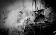 哈尔滨 消防员 (SinoLaZZeR) Tags: china blackandwhite bw heilongjiang canon fire eos blackwhite 中国 firefighter harbin haerbin 哈尔滨 黑龙江 消防队 60d 消防员 1585mm