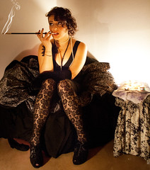 Bad girl (Debor.R) Tags: black girl smoke bad chic nero badgirl fumo