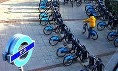 Boris Bikes DLR #dailyshoot #London (Leshaines123) Tags: light london contrast patterns johnson bikes bank railway boris docklands dlr barclays repeating me2youphotographylevel1