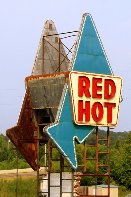 Red Hot Truck Stop sign - Meridian, MS