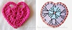Crochet heart pattern (~ tilde ~) Tags: diy pattern heart handmade crochet free valentine diagram granny
