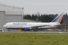 EI-CZD Boeing 767-216ER Transaero (eigjb) Tags: ireland plane airplane airport russia aviation shannon airline boeing wfu spotting airliner coclare b767 stored aircrat transaero 170113 eiczd 767216er