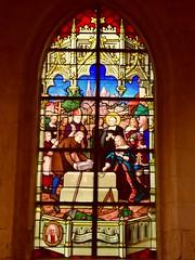 Lillebonne, F-76 (piratpl2012) Tags: church gothic vitrail église kosciol gotyk witraz