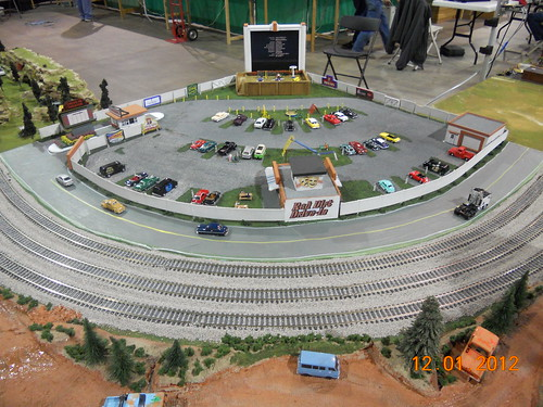 Railroad model train HO-scale drive in at Oklahoma City model train show 36th annual