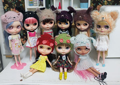 31st January 2013 Group Shot (prettyinthekitchen) Tags: family bunny hat crazy doll shot blythe meimei mimsy