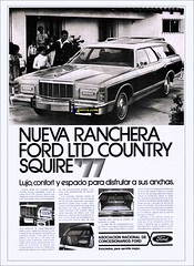 1977 Ford LTD Country Squire (Venezuela) (Dkarros.com) Tags: old ford ads venezuela aviso 1977 ltd stationwagon ranchera countrysquire guayin
