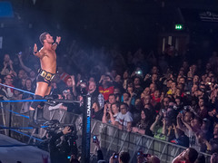 Austin Aries vs. Bobby Roode (simononly) Tags: uk england london tour live wrestling arena american impact pro fujifilm challenge aries wembley tna f600 lockdown 2013 tagteamchampions