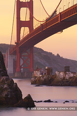 The Golden Gate Bridge at Twilight, Horseshoe Bay, Sausalito, San Francisco Bay, California, USA (ILYA GENKIN / GENKIN.ORG) Tags: ocean sanfrancisco california road travel bridge sea sky usa cloud southwest west nature water weather clouds america landscape outside outdoors bay coast pier us marine scenery skies view unitedstates natural pacific suspension cloudy outdoor over shoreline scenic cable scene structure coastal goldengatebridge cables american shore maritime transportation goldengate caution western bayarea vista northamerica environment coastline sanfranciscobay horseshoebay sfbayarea suspended across sausalito climate span saltwater cautious conditions fortbaker moorestreet spanning fortbakerpier moorestreetpier