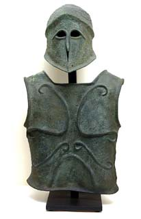 "5th century Bc Corinthian hoplite armour • <a style=""font-size:0.8em;"" href=""http://www.flickr.com/photos/92921384@N07/8448317618/"" target=""_blank"">View on Flickr</a>"