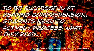 """""""To be successful at reading comprehensio..."""