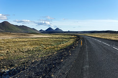 On the road to Jokulsargljufur (marko.erman) Tags: iceland islande jokulsargljufur road ontheroad landscape hills desert alone driving norurmlassla grass volcano sony