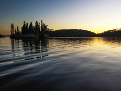 Symphony for the Moon (Kat Hatt) Tags: lake carabou lakecarabou canada kathatt kathleenhatt evening sunset islands colors sky water reflections fotocompetitionbronze