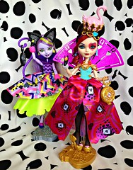We're falling down, we're feeling free (honeysuckle jasmine) Tags: mattel ever after high dolls kitty cheshire cat lizzie hearts daughter queen alice wonderland doll princess