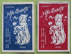 Sweet bear (streamer020nl) Tags: suikerzakje sugar zucker sugre suiker 1950s 1960s holland packet polarbear ijsbeer ijs beertje texel cafetaria langeveld dekoog denburg