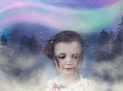Her Dreams (Shannon Alexander Photography) Tags: fineartphotographer fineartphotography childportrait photomanipulation forest woods northernlights vermontphotographer night starrysky surreal