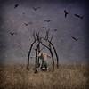 Summoning Mankind (jonathanchape) Tags: fineart conceptual darkart birdcage birds alexstoddard